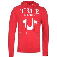 True-Religion-Puffy-Print-Red-Pullover-Hoodie