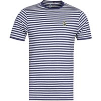 Luke 1977 Zucci All Over Navy & Light Grey Stripe T-Shirt