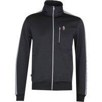 Luke 1977 Moremoor Funnel Neck Taped Black Track Jacket