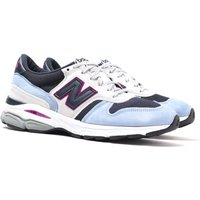New Balance Made In UK M7709 Blue With Beige & Black Suede Trainers