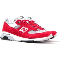 New Balance M991 Made In England Red & Grey Suede Trainers