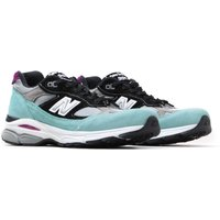 New Balance 991.9 Made in England Light Blue With Grey & Black Leather Trainers