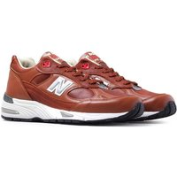 New Balance M991 Made In England Brown Tan & White Leather Trainers