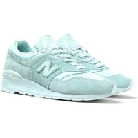New Balance M997 Made In USA Mint Green Suede Trainers