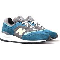 New Balance M997 Made In USA Navy & Tonal Blue Suede Trainers