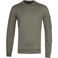 Lyle & Scott Crew Neck Olive Pocket Sweatshirt