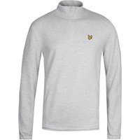 Lyle & Scott Quarter Zip Pique Sweatshirt - Grey