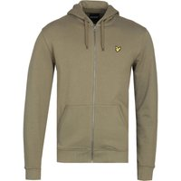 Lyle & Scott Zip Through Lichen Green Hoodie