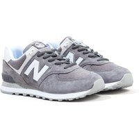 New Balance 574 Grey & White Suede Trainers