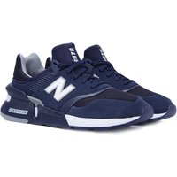 New Balance 997 Tonal Navy Suede Mesh Trainers