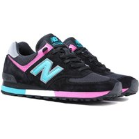 New Balance M576 Made in England Black & Lake Blue Suede Trainers