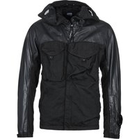 CP Company Coated Resin Panel Black Hooded Jacket
