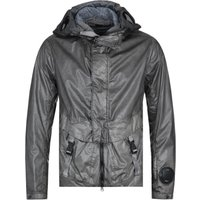 CP Company Garment Dyed Sleeve Lens Grey Hooded Jacket