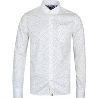 Pretty Green Slim Fit Off White Atwood Shirt