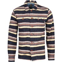 Pretty Green Navy Striped Overshirt