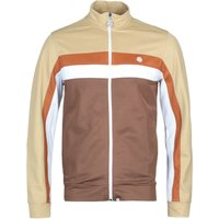 Pretty Green Contrast Panel Brown Track Jacket