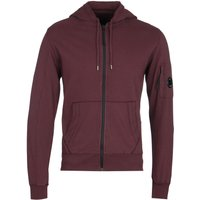 CP Company Zip-Through Burgundy Lens Hoodie