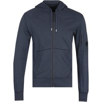 CP Company Zip-Through Navy Lens Hoodie