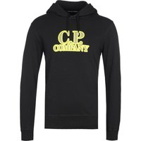 CP Company Logo Print Black Pullover Hoodie