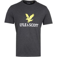 Lyle & Scott Large Logo Charcoal Marl T-Shirt