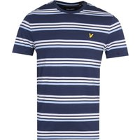 Lyle & Scott Multi Stripe Navy T-Shirt