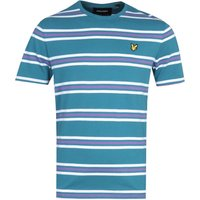 Lyle & Scott Double Stripe Teal T-Shirt
