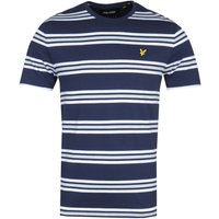 Lyle & Scott Double Stripe Navy T-Shirt