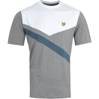 Lyle & Scott Archive Mid Grey Marl Diagonal T-Shirt