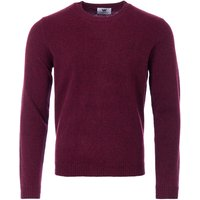 Wood Wood Kevin Lambswool Crew Neck Sweater - Dark Red