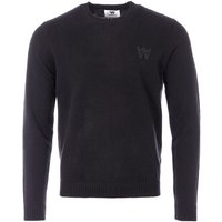 Wood Wood Kevin Lambswool Crew Neck Sweater - Black