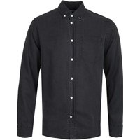 NN07 Levon 5767 Button Down Garment Dyed Black Long Sleeve Shirt