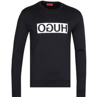 HUGO Black Crew Neck Dicago Sweatshirt
