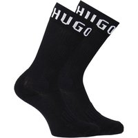 HUGO 2 Pack Black Logo Sports Socks