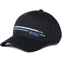 BOSS Logo Black Stripe Cap