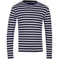 Armor Lux Mariniere Navy & White Stripe Long Sleeve T-Shirt