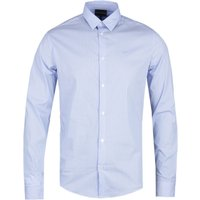 Emporio Armani Long Sleeve Blue Stripe Shirt