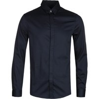 Armani Exchange Poplin Navy Shirt