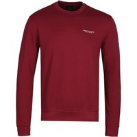 Armani Exchange Burgundy Crew Neck Sweatshirt