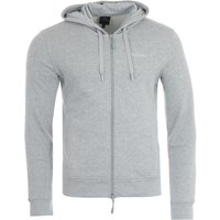 Armani Exchange Zip-Through Hooded Sweatshirt - Grey