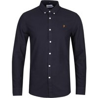 Farah Brewer Slim Fit Navy Oxford Shirt