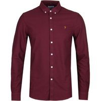 Farah-Brewer-Slim-Fit-Burgundy-Oxford-Shirt