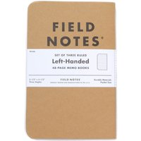 Field Notes Original 3 Pack Left Handed Ruled Notebooks