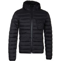 Barbour International Ouston Black Hooded Quilt Jacket