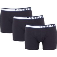 Tommy Hilfiger 3 Pack Organic Cotton Boxer Trunks - Black