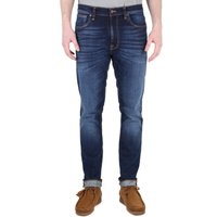 Nudie Jeans Lean Dean Dark Deep Worn Slim Fit Jeans