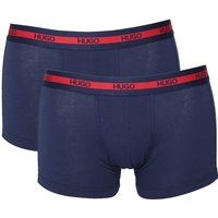 HUGO 2 Pack Navy Stretch Cotton Trunks