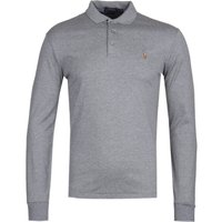 Polo Ralph Lauren Slim Fit Long Sleeve Grey Pima Polo Shirt