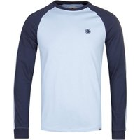 Pretty Green Contrast Colour Sky Blue Raglan T-Shirt