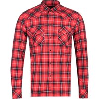 Diesel S-East Red Long Sleeve Check Shirt