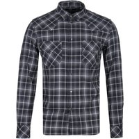 Diesel S-East Black Long Sleeve Check Shirt